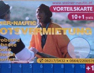 Fragen Sie nach der Vorteilskarte des Bootsverleihs Mattsee! © Steiner Nautic