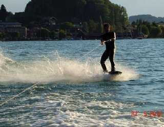 Wakeboarden mit der STEINER Lightstream 6.2 © Steiner Nautic