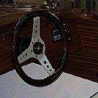 Steiner Lisa 550 mit Mahagonideck, Lenkrad und stufenlose Schaltung © Steiner Nautic