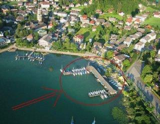 Das Areal der Segel- und Surfschule Mattsee © Steiner Nautic