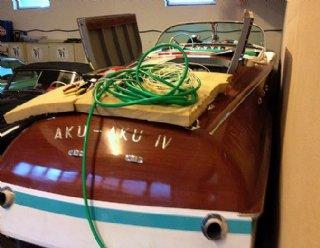 Umrüstung eines Riva Holzmotorbootes auf einen 50kW Elektroantrieb von Kräutler © STEINER NAUTIC
